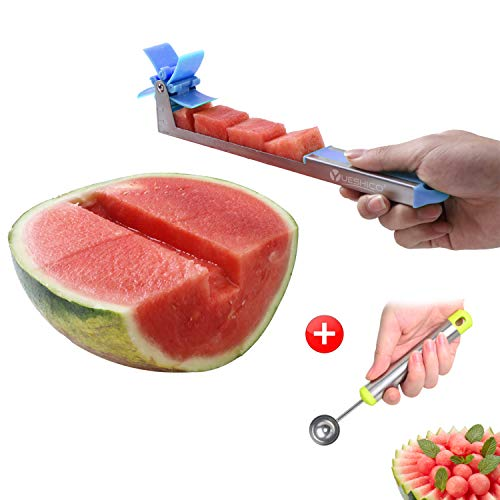Yueshico Windmill Watermelon Cutter Slicer - Auto Stainless Steel...