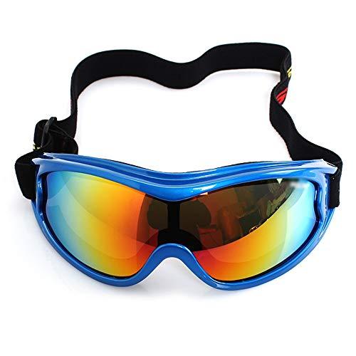 Kinder Bunte Ski Skibrille Sports Snowboarding mit Kasten for Kinder Jungen Mädchen Alter Anti-Fog-windundurchlässiges Staubdichtes UV400 Schutz (Color : Blue)