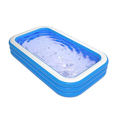 Piscina inflable (118 * 69 * 24 pulgadas / 300 * 175 * 60 cm) Piscina de tamaño completo gruesa y resistente al desgaste Piscina familiar para fiestas acuáticas en verano Adecuado para jardines, pat