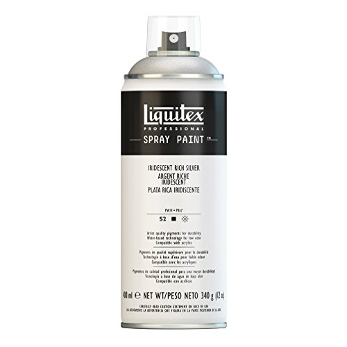 Liquitex Professional - Acrílico en spray, 400ml, plata rico iridiscente