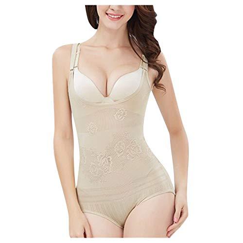 Body moldeador de cuerpo para mujer, con control de abdomen, moldeador de cuerpo, para llevar tu propio sujetador con diseño de parte inferior desmontable