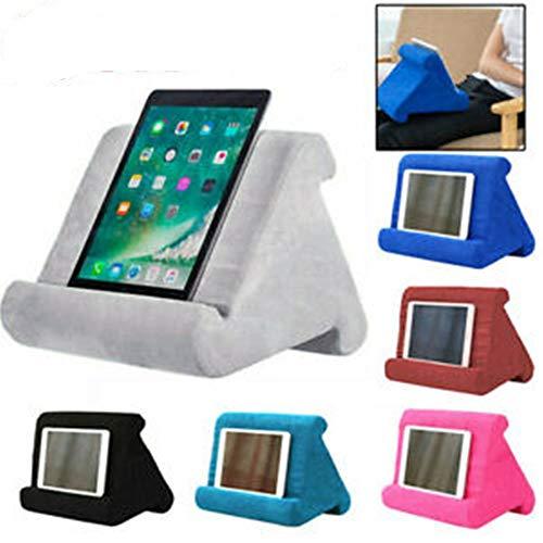 LIONEE Soft Multi-Angle Soporte de Almohadilla Soporte de Tableta para teléfono con Tableta iPad, Soporte de Tableta Almohada iPad Soportes y Soportes (Rosa Rojo)