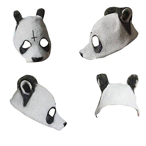 thematys Cro Panda-Maske - perfekt für Fasching, Karneval & Festival - Kostüm für Erwachsene - Latex, Unisex Einheitsgröße