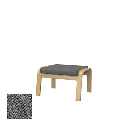 IKEA POÄNG poggiapiedi, tessuto Nordic Grey, grigio