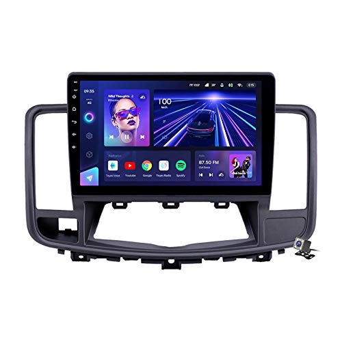 Buladala Android 9.1 GPS Navigation Stereo Radio para Nissan Teana 2008-2013, 10,1' Pantalla Coche Media Player Soporte Carpaly/5G FM RDS/Control Volante/Bluetooth Hands-Free,7862: 6+128