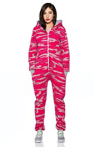 Crazy Age Jumpsuit Overall Einteiler CA 2840 in neuen trendigen Camouflage Farben (S, Pink(A)) - 2