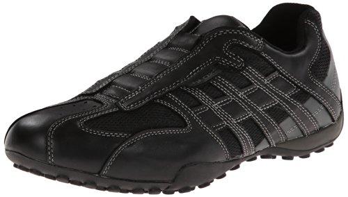 Geox Geox UOMO SNAKE L, Herren Sneakers, Schwarz (BLACK/LEADC9204), 40 EU
