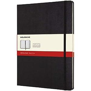 Moleskine Address Book, Taccuino Tascabile, Copertina Rigida, Formato X-Large, Colore Nero
