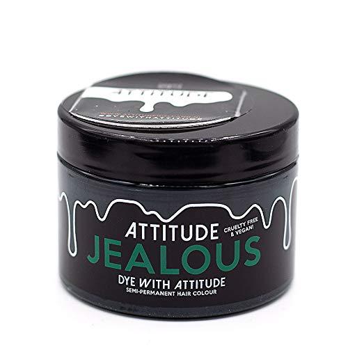 Attitude Haarfärbemittel - Semipermanenter Haarfarbstoff - mit Conditioner und Vegan - Farbe Jealous Grün