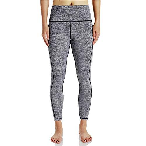 Pantalon De Yoga Style Simple Haute Femmes Taille Fitness pour Fitness Leggings Lady Men Girl Running Collants (Color : Grau, Size : S)