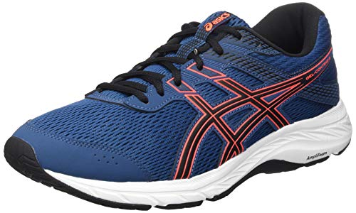 ASICS Mens Gel-Contend 6 Running Shoe, Mako Blue/Sunrise Red,45 EU