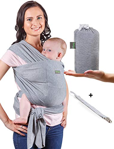 Baby Wrap Carrier - Baby Sling up to 35 lbs - Infant Wrap - Newborn Baby Carrier Sling - Baby Carrier Wrap and Sleepy Wrap for Toddler - Breastfeeding...