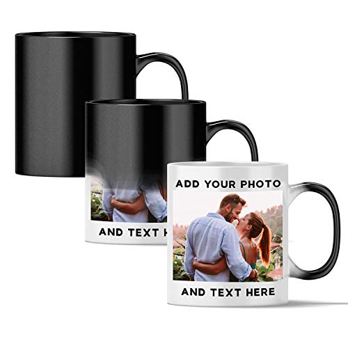 Personalized Magic Mug - Custom Color Changing Mug | 11 oz Personalized Coffee Mug with Photo,...