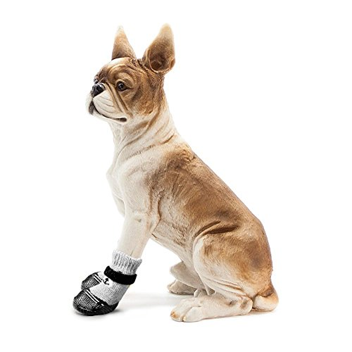 DAYOLY 4 stks huisdier hond sokken schoenen antislip waterdichte zachte warme poot beschermers laarzen voor kleine katten honden puppy kitten, S, Zwart