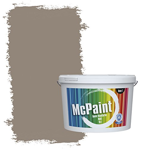 McPaint Bunte Wandfarbe Mokka - 10 Liter - Weitere Braune und Dunkle Farbtöne Erhältlich - Weitere Größen Verfügbar