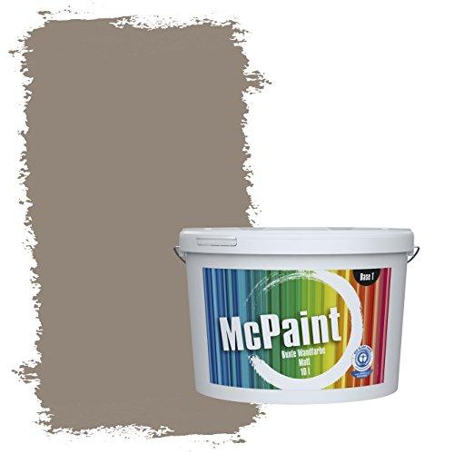McPaint Bunte Wandfarbe Mokka - 5 Liter - Weitere Braune und Dunkle Farbtöne Erhältlich - Weitere Größen Verfügbar