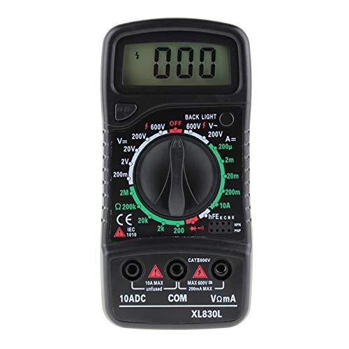 Multímetro digital, Probador de multímetro digital Automotriz eléctrico DMM Transistor Teser de bolsillo Contador de capacitancia para bricolaje (Color : XL830L)
