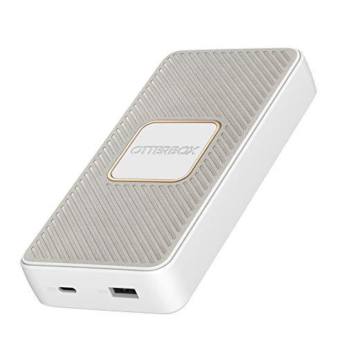 OtterBox Schnelllade Powerbank - 15 000 Mah, 18W USB A (2.4A) & USB C (3A) mit Qi Wireless Charging und 10W - Weiß