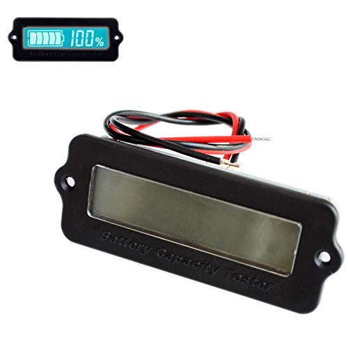 Best Review Of 10PCS Blue Green 12V LY6W Lead Acid Battery Capacity Indicator LCD Digit Display Mete...