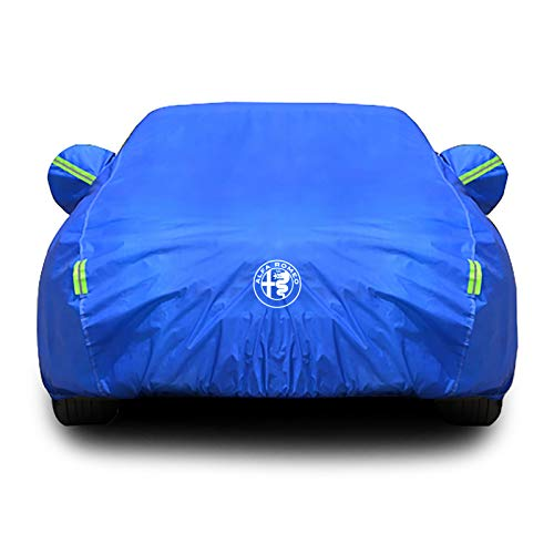 Whitejianpeak Compatibile con Il Telo copriauto Alfa Romeo Giulia, Rivestimento Impermeabile, Coperchio Auto ispessente per Uso Generale per Uso Interno Esterno