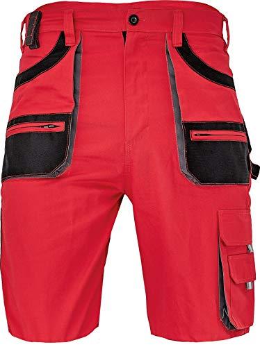 DINOZAVR Des-Emerton Pantalones Cortos de Trabajo Duraderos - Bermudas Cargo para Hombre - Rojo 62