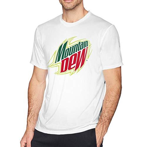Mountain Dew Kurzärmliges T-Shirt Aus Baumwolle Für Herren, Lässiger Und Bequemer Home Office Sport.3XL