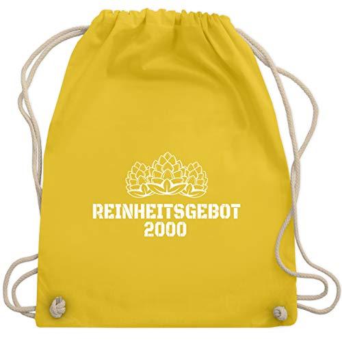 Shirtracer Geburtstag - Reinheitsgebot 2000 - weiß - Unisize - Gelb - Bier - WM110 - Turnbeutel und Stoffbeutel aus Baumwolle
