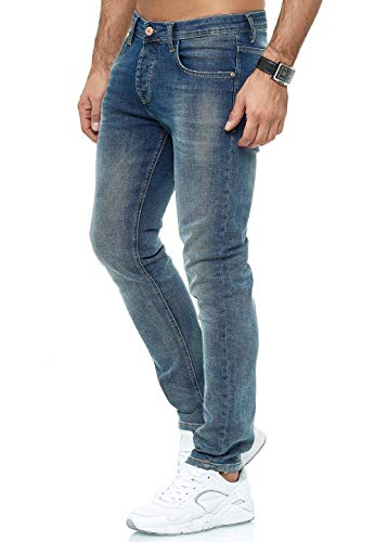 Redbridge - Jeans da uomo, verstibilità regular e slim fit, denim M4250 – Blu. 44 IT (30W/34L)