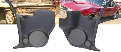 Kick Panel Speaker Mounts for Classic Cars Fits GTO Lemans Tempest Cutlass/442 Malibu El Camino Chevelle Skylark Grand Sport