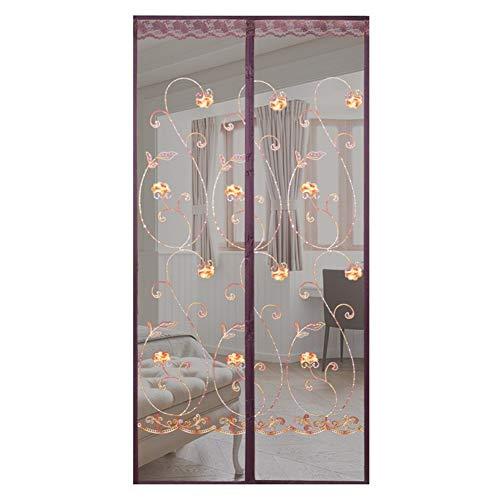 Magnetisch horgordijn voor deuren, muggennet voor de zomer, voor woonkamer, deur, balkon, loper 130 * 230cm Blue
