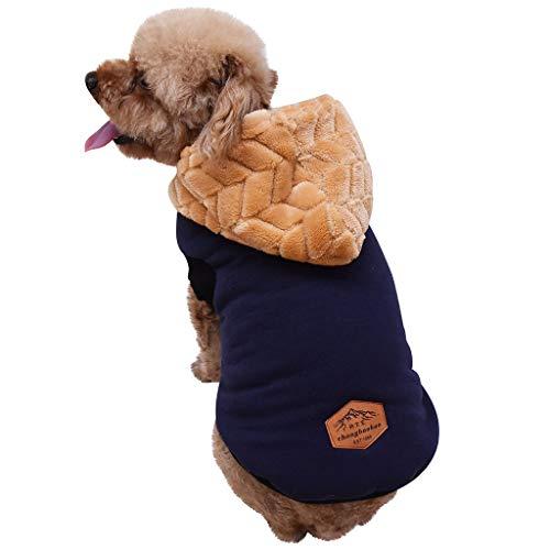 Balock Schuhe Haustier Mantel - Hundekleidung Warm Wintermantel Haustier Mantel Hund Kleider Jacke Hund Welpen Kleidung Weste für Herbst Winter - für Schnauzer, Teddy,Pudel,Chihuahua (Blau, XXL)