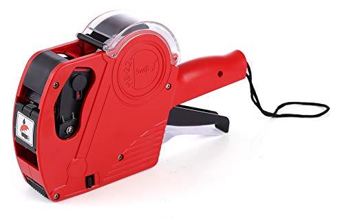 Swift Preisauszeichner Kit mit 5500 Etiketten und sparsamer Tinte M8-22 Rot