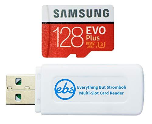 Samsung 128 GB Micro SDXC EVO Plus Speicherkarte mit Adapter funktioniert mit Samsung Galaxy S7, Tab S7+ Tablet, A21s Smartphone (MB-MC128HA) Bundle mit (1) Everything But Stromboli SD, TF-Kartenleser