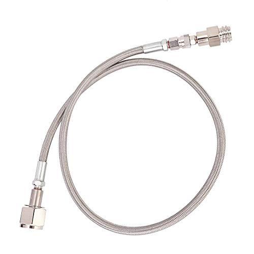 【】Adaptador direto de tanque de refrigerante para mangueira de alta pressão 1 m G1/2 para adaptador direto do tanque SodaStream para CGA320 externo (prata)