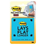 Post-it Super Sticky Full Stick Notes, 3 in x 3 in, 4 Pads, 2x the Sticking Power, Rio de Janeiro Collection, Bright Colors (Orange, Pink, Blue, Green), Recyclable (F330-4SSAU)