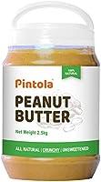Pintola All Natural Peanut Butter (Creamy) (1kg) | Unsweetened | 30g Protein | Non GMO | Gluten Free | Vegan |...