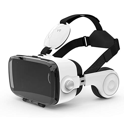 Find Discount WDCCG 3D VR Virtual Reality Glasses, Built-in Stereo Headphones, Head-Mounted Game Hel...