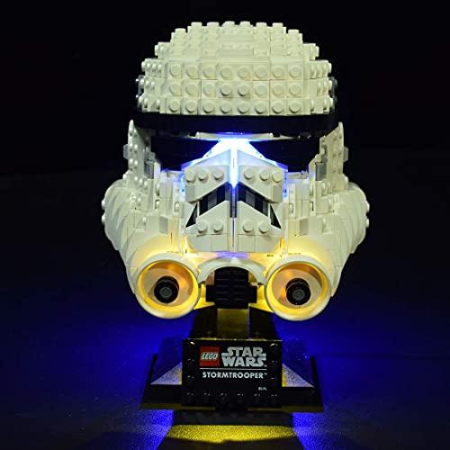 XIAN Juego de luces LED para Lego Star Wars Stormtrooper Casco de iluminación Set para Lego 75276 (solo luz LED, sin kit de lego) (75276)