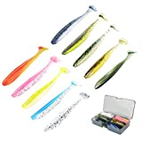 100 Pcs 2.6 inch Fishing Lures Fishing Soft Plastic Shad Lures Japan Formula Eco-Friendly Material Freshwater Saltwater...