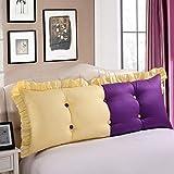 Hqqgwt Respaldo Grande Almohada Doble Cabecera de Noche Cojín Almohadillas de algodón Suave del Bolso del sofá del Dormitorio Trasera Grande del Respaldo de la Almohadilla Lavable Proteja la Cintura