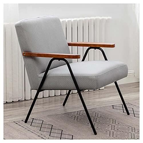 VIVIANSHOP Silla ergonómica, sofá individual, sillón para sala de estar y dormitorio, balcón, tela técnica, silla, taburete