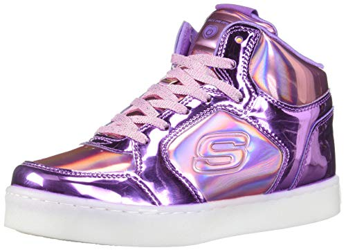 Skechers Mädchen Energy Lights - Shiny Brights Hohe Sneaker, Mehrfarbig (Pink/Purple Pkpr), 37 EU