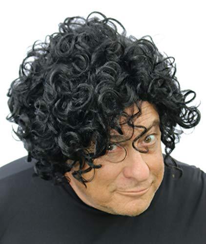 Prince Wig , Black Curly Costume Wig for Men, Women, Kids