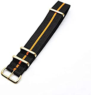Watchbands - Men and Women Watch Accessories Nylon Watchband Watch Replacement of Strap Fabric Golden Buckle For 18mm 20mm...