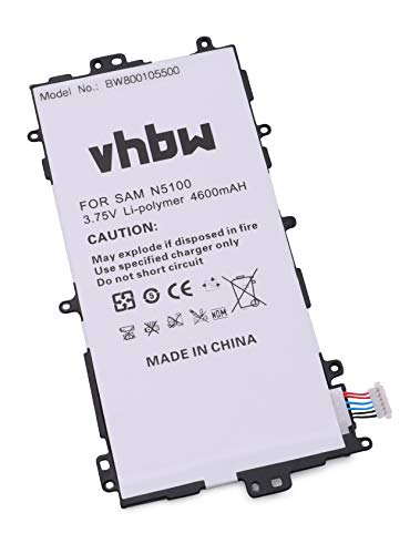 vhbw Batterie 4600mAh (3.7V) pour Tablette Pad Netbook Samsung Galaxy Note 8.0, Galaxy Note 8.0 32GB, GT-N5100, GT-N5110 comme SP3770E1H.
