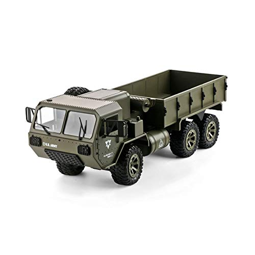 DBXMFZW 1/16 Scale Off-Road Control Remoto Control Car, 2.4G Electric 6WD Military RC Truck, Terrain Climing RC Vehículo, Light Lights, LED Lights, Anti-Collision and Drop Resistanza, Regalos para niñ