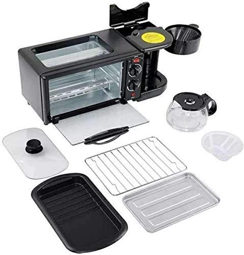 Máquina de desayuno de 3 en 1 600W Pote de café + 750W TEPPANYAKI + 750W Horno Horno Fabricante de pan tostador de pan/huevo frito/cocinar de café YXF99