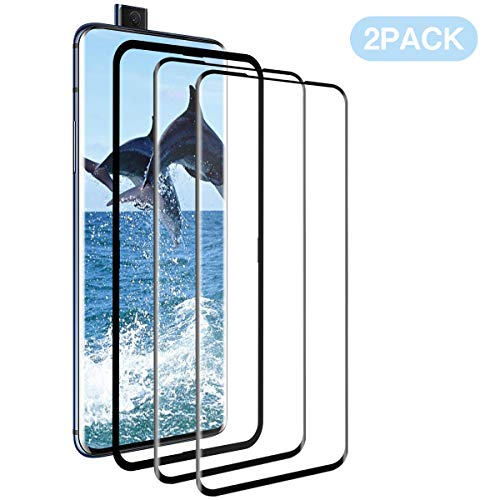 XCVDF OnePlus 7 Pro panzerglas [2 Pack], 3D-Bildschirmschutzglas [Anti-Bubble] [9H Härte][HD][Fall fre&lich] [Anti-Öl] Anti-Fingerabdruckpanzerglas für OnePlus 7 Pro