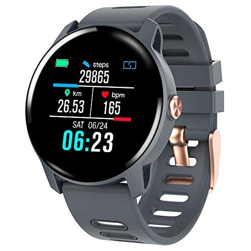 Smart Watch, Fitness Tracker Touch Screen Smartwatch IP68 Waterproof with Heart Rate Monitor, Activity Tracker Watch with Sleep Monitor & SMS Call Notification, Calorie Step Counter for Women and Men