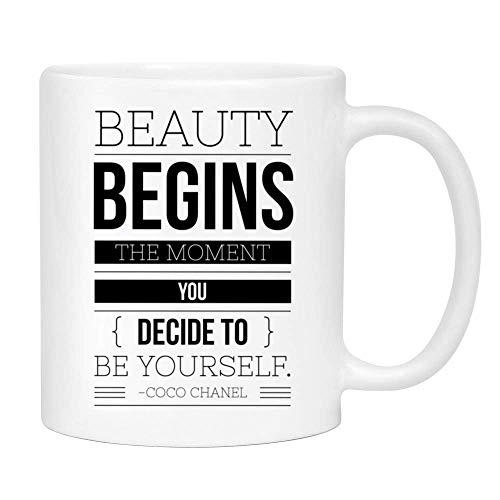 N\A Taza de Coco Chanel Beautycoffee - Linda Taza sarcástica Divertida para Mujeres Divertidos para mamá, Hermana, Mejor Amiga, Sus Menos de $ 20 - Tazas Impresas a Mano en los EE. UU.